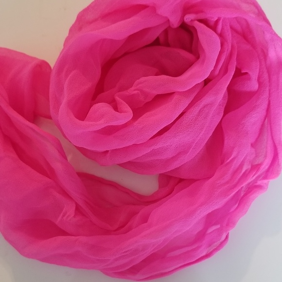 Other - 100% silk hand rolled scarf